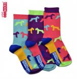 United Oddsocks Hound pack of 3 odd socks for Kids (not pairs)